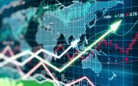 显示全球市场动向的屏幕。