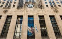 芝加哥期货交易所大楼的正面。