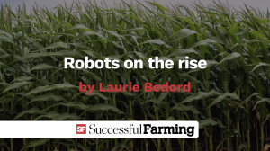 Robots on the rise title slide